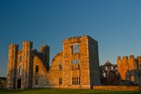 Cowdray House, Evening light on Cowdray
