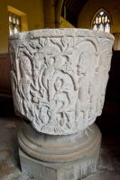 Cowlam, St Mary's Church, The Norman font