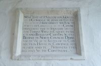 Cowlinge, St Margaret of Antioch Church, 17th century inscription
