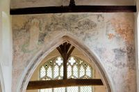 Cowlinge, St Margaret of Antioch Church, Chancel arch wall painting