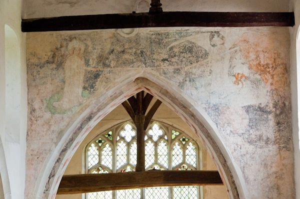 Cowlinge, St Margaret of Antioch Church photo, Chancel arch wall painting