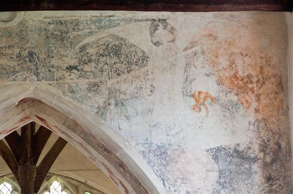 Cowlinge, St Margaret of Antioch Church photo, Medieval wall painting 2