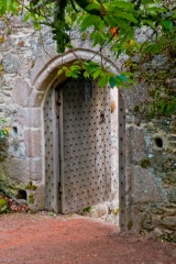 Rustic doorway in the garden