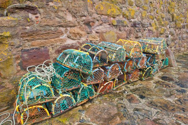 Crail photo, Lobster pots