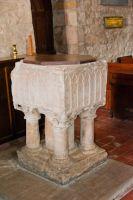 Crambe, St Michael's Church, Norman font