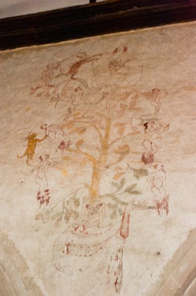 Cranborne photo, Cranborne Church wall paintings