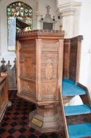Cratfield, St Mary the Virgin Church, Jacobean pulpit