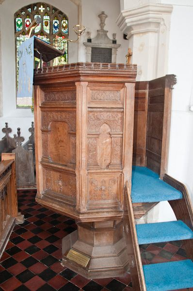 Cratfield, St Mary the Virgin Church photo, Jacobean pulpit