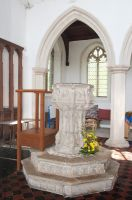 Cratfield, St Mary the Virgin Church, Seven Sacrament font
