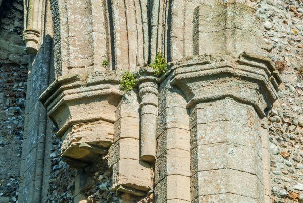 Creake Abbey photo, Medieval carved capitals