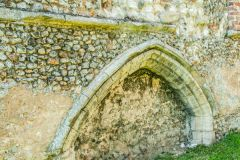 Creake Abbey, A tomb recess near the east end of the church
