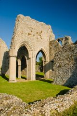 Creake Abbey, Ruined foundation walls of transepts