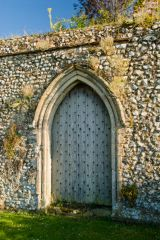 Creake Abbey, Medieval doorway to the nearby farm