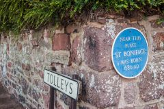 Crediton, Birthplace of St Boniface