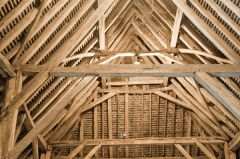 Cressing Temple Barns and Gardens, Wheat Barn roof timbers