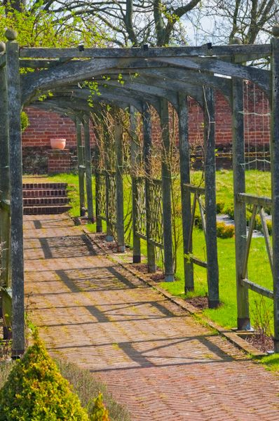 Cressing Temple Barns and Gardens photo, Tudor gardens trellis walk