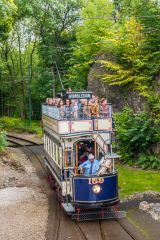 Crich Tramway Village, London United Tramways 159, built in 1901