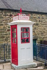 Crich Tramway Village, Old fashioned postbox in the village