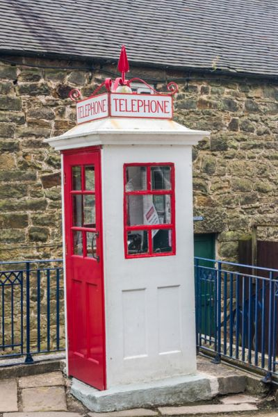 Crich Tramway Village photo, Old fashioned postbox in the village