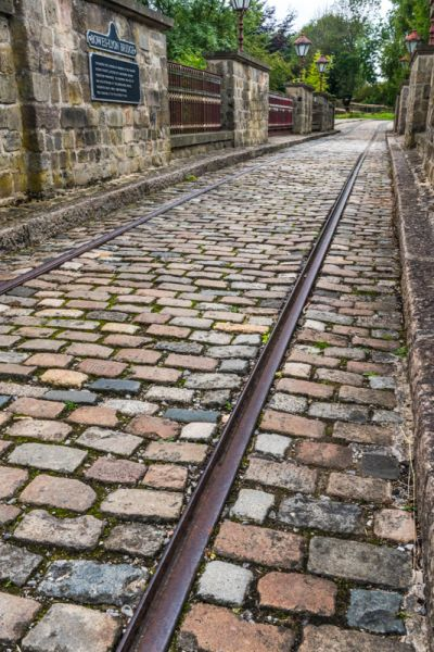 Crich Tramway Village photo, Tram rails on the Victorian bridge