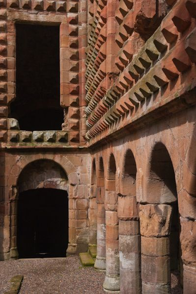 Crichton Castle photo, Italianate decoration detail