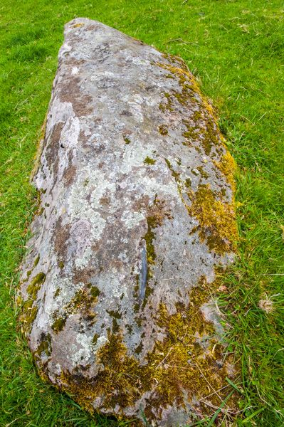 Croft Moraig Stone Circle photo, The recumbent cup-marked stone