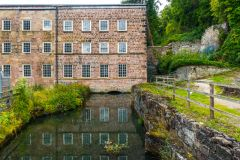 Cromford Mills, Bonsall Brook running under the first mill extension