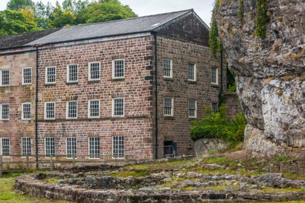 Cromford Mills photo, The first mill and outbuilding foundations