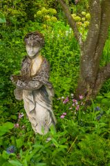 A statue in the gardens