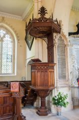 The pulpit and sounding board