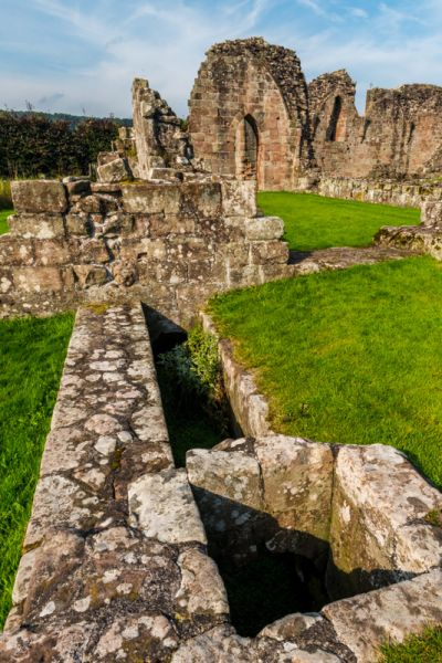 Croxden Abbey photo, Remains of the medieval drainage system