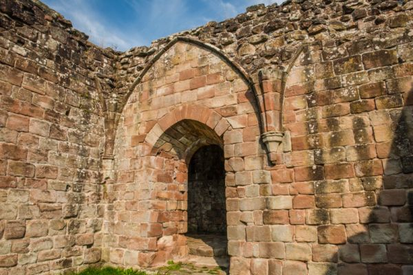Croxden Abbey photo, A doorway arch off the cloisters