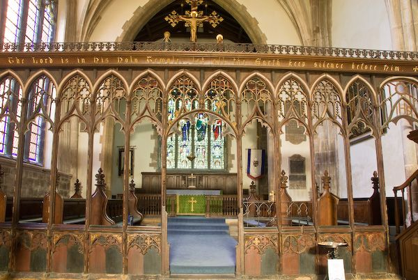 Croyland Abbey photo, Carved wooden Chancel Screen