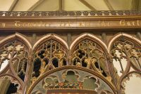 Detailed view of the rood screen
