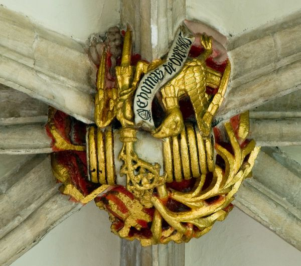 Croyland Abbey photo, 15th century Ceiling boss