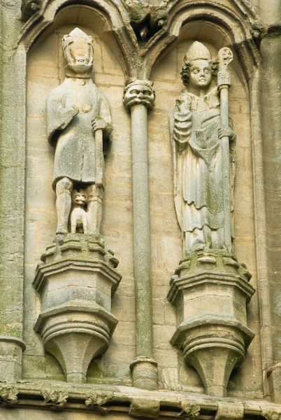 Croyland Abbey photo, Statues on the west front of the abbey
