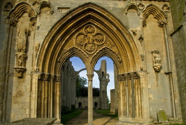 Croyland Abbey photo, West front archway