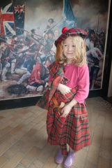 A young 'Highlander' in the visitor centre