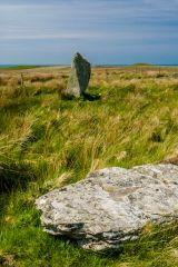 Cultoon Stone Circle, Looking towards the largest standing stone