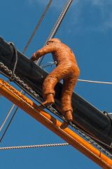 A 'sailor' in the rigging