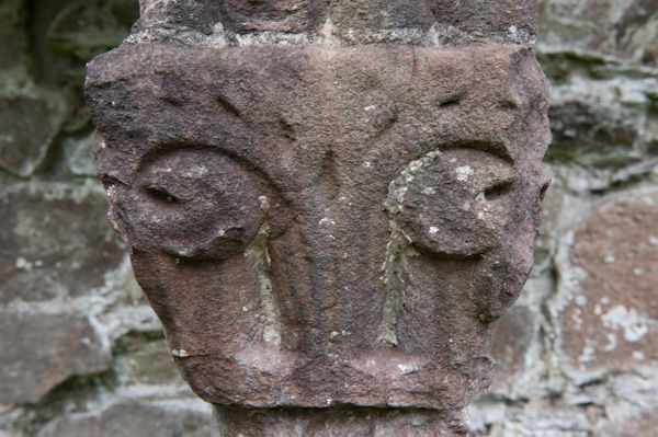Cymer Abbey photo, Carved capital