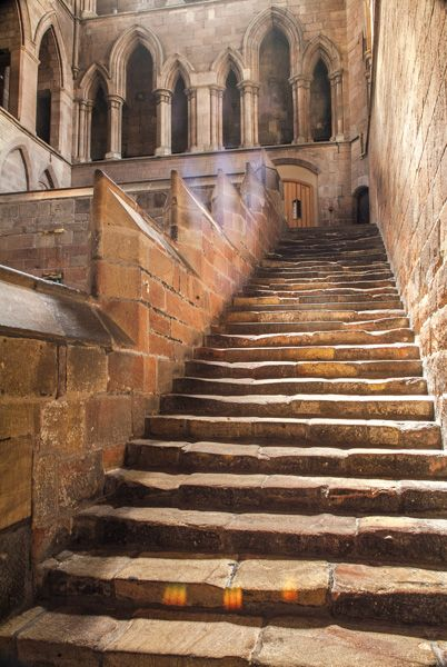 Hexham Abbey photo, The Night Stairs