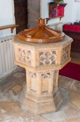 Daglingworth, Holy Rood Church, 15th century font