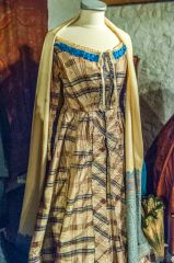 One of the Victorian era dresses on display