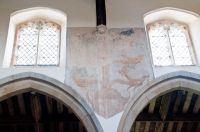 Dalham, Medieval wall painting in the church
