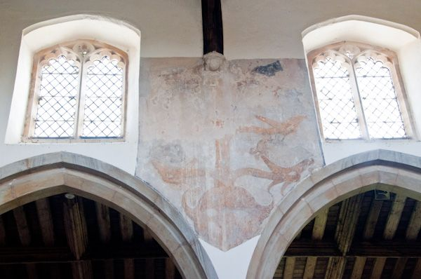Dalham photo, Medieval wall painting in the church