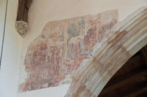 Dalham, St Mary's Church photo, Wall painting fragment