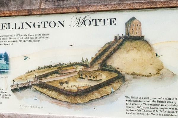 Dalmellington Mote photo, Artists impression of how the mote originally looked