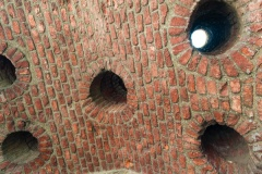 Murder holes in the gatehouse passage