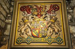 Coat of arms in the cellars